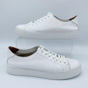 Frye White Lena Low Lace-up Sneaker